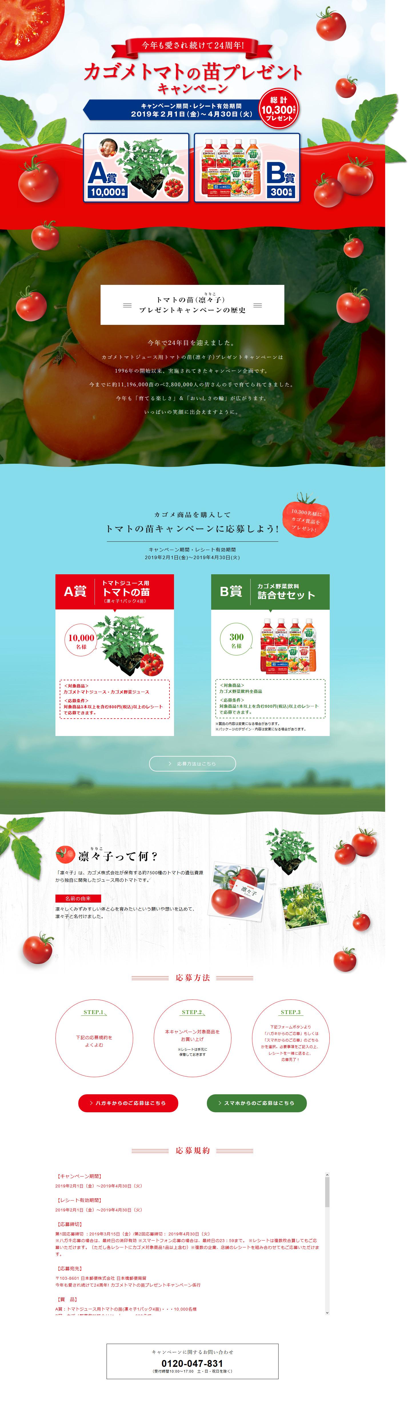 カゴメトマトの苗プレゼントキャンペーン